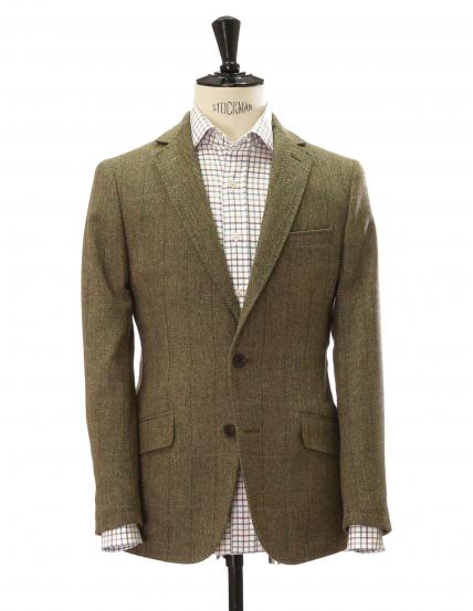 Chaqueta tweed durham Verde