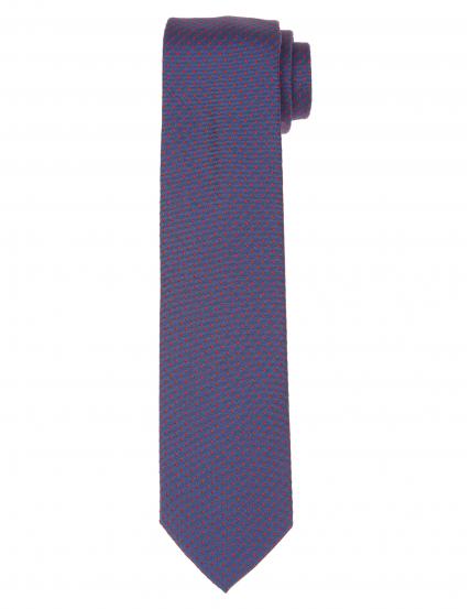 Corbata pois Azul/rojo