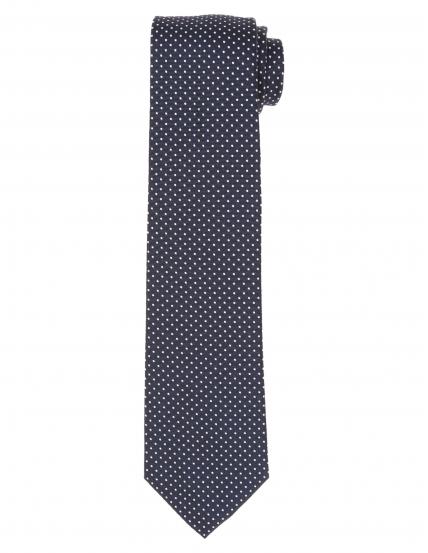 Corbata pois Azul/blanco